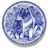 Keeshond Lekven Design Dog Plate 19.5 cm /7.61 inches Made in Denmark NEW with certificate of origin PLATE #3045