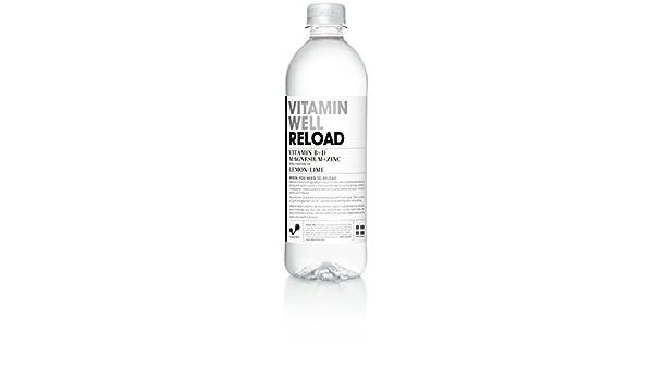(5 Pack) soluble en agua potable con vitaminas y minerales (500 ml)/RELOAD su cuerpo con Vitamina B & D + Magnesio + Zinc/tipos con lima limón & sabor: ...