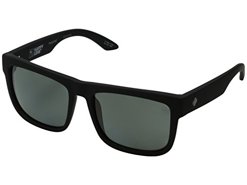 Spy Discord Sunglasses Soft Matte Black with Happy Gray Green Polarized - Discord Spy