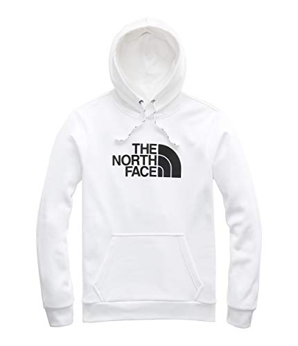 Solid Knit Polyester Hat - The North Face Men's Surgent Pullover Half Dome Hoodie 2.0, TNF White/TNF Black, Size 3XL