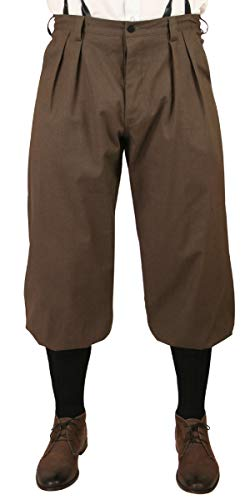 Historical Emporium Men's Cotton Twill Knickers 38 Brown