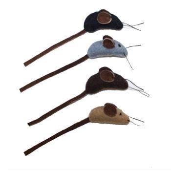 Aussie Wool - Aussie Naturals Cat Toy Mouse 4 Ct, 1 Each