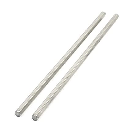 eDealMax acero inoxidable 2pcs 100 mm x 3 mm Hex varilla de ...