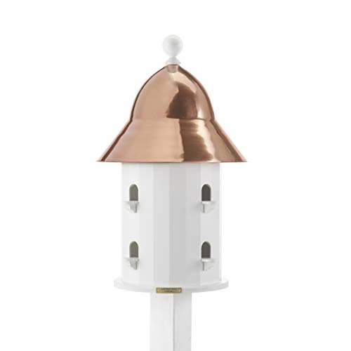 Lazy Hill Farm Designs 42413 Bell House White Solid Cellular Vinyl with Spun Polished Copper Roof, 17-Inch by 26 3/4-Inch (Bell Lazy Hill)