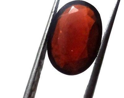 Getgemstones 4.5 Carat Hessonite Garnet Stone Original Certified Loose Oval Shape Gomed