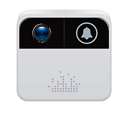 720P HD Smart Wireless Door Bell,WiFi Doorbell for Home Security, Visual Camera Phone Home Monitor Security (White)