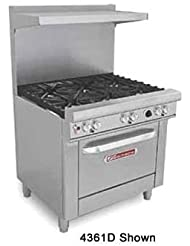 Southbend H4361D 36 Ultimate Restaurant Gas Electric Range W 6 Standard Burners 1 Electric Hybrid Standard Oven