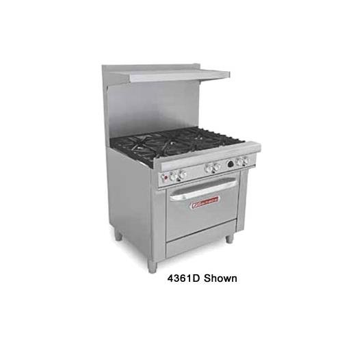 """Southbend H4363A 36"""" Ultimate Restaurant Gas/Electric Range w/(6) Star-Saute Burners & (1) Electric Hybrid Convection Oven"""