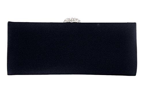 Bolsa JEAN MARTEN mujer azul de mano en satén con cierre particular N530
