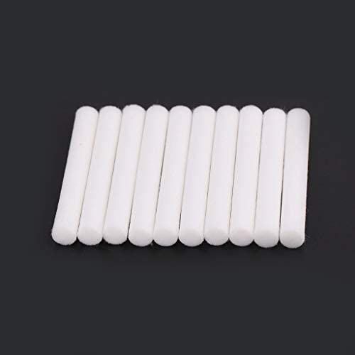 BUIDI 10Pieces 8mmx64mm Air Humidifiers Filters Cotton Swab for Air Ultrasonic Humidifier Humidifier parts White