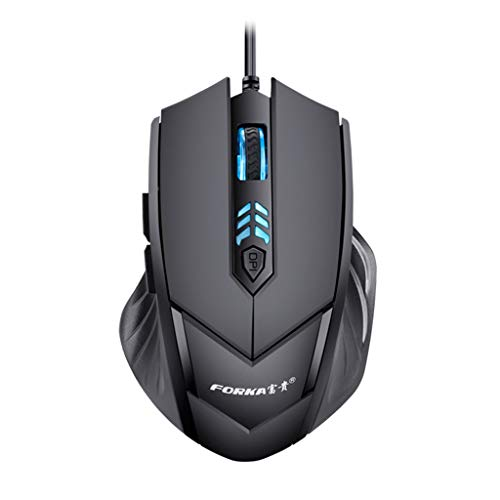 Kay Cowper LED Wired Gaming Professional 6Buttons 2400DPI Adjustable Optical Silent Mouse