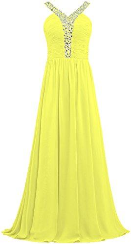 ANTS Women's V Neck Crystal Straps Long Prom Dresses Even...