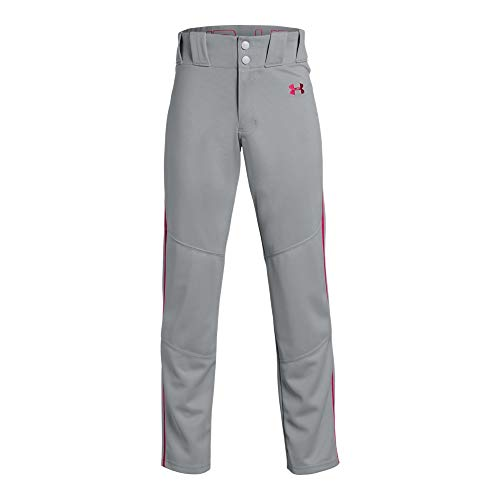 Under Armour Utility Relaxed Pants Pipe, Baseball Gray//Red, Youth X-Small - Polyester Youth Baseball