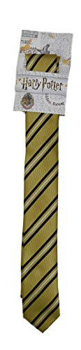 Harry Potter Thin Tie Striped Gryffindor Ravenclaw Hufflepuff Slytherin House Crest Necktie Neckwear (Hufflepuff) ()
