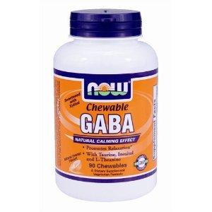 NOW Foods - GABA avec Xylitol arôme d'orange - 90 comprimés à croquer
