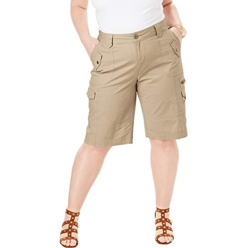 Roamans Women's Plus Size Cargo Shorts - Sandy Beige, 12 W