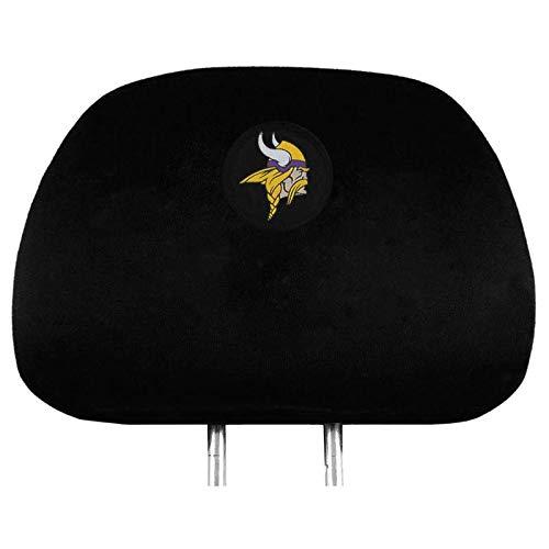 NFL 2 Pack Car Seat Headrest Covers - Pick Minnesota Vikings ()