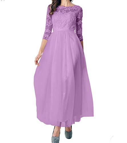 Knoechellang A Prinzess Abschlussballkleider Flieder Charmant Damen Abendkleider Brautmutterkleider Tuell Tanzenkleider Linie B5S1YHqw