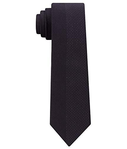Klein Calvin Shimmer (Calvin Klein Mens Shimmer Silk Metallic Neck Tie Black O/S)