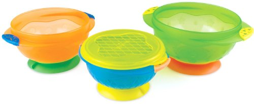 Munchkin 3 Count Stay Put Suction Bowl (Pack of 2), Multicolored by Munchkin