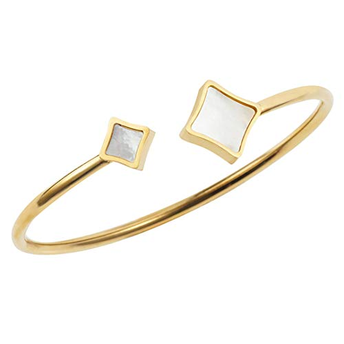 - Shell Love Cuff Bracelet Woman Four-Pointed Star Adjustable Wristband Rose Gold Wedding Jewelry Accessory Gift gold color