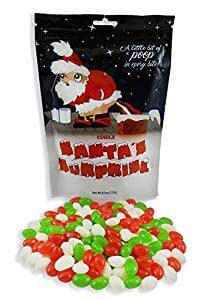 Santa's Surprise Stocking Stuffer Candy (Christmas Jelly Beans - 8.3oz) 1/2 LB - Santa Candy - Candy Gag Gift - Christmas Candy - White Elephant Gift (12 Pack)