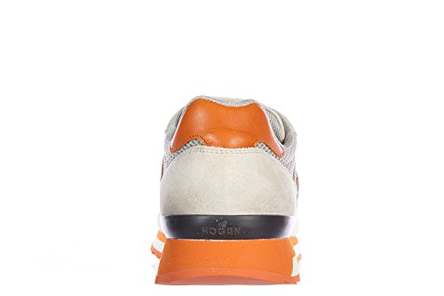 Hogan Rebel chaussures baskets sneakers homme en daim r261 rebel vintage orangen