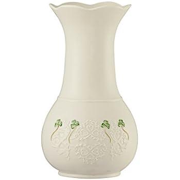 Amazon Belleek 4350 Shamrock Lace Vase 10 Inch White Home