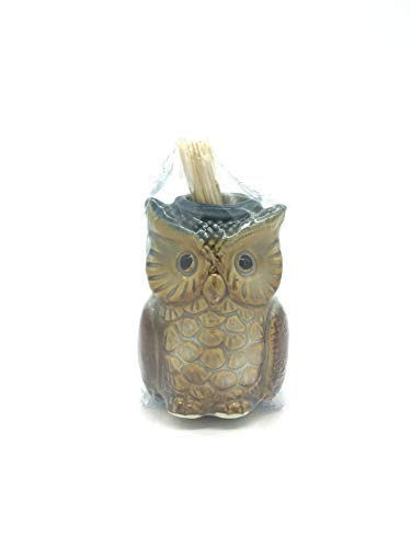 Ceramic Owl Toothpick Holder