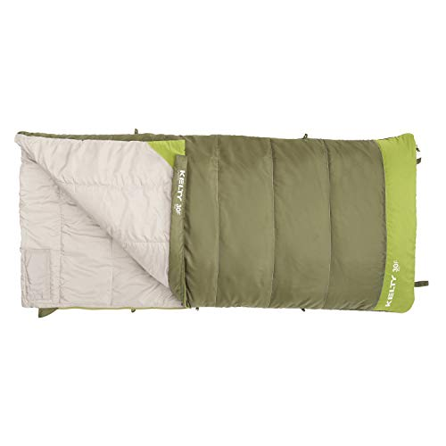 Kelty Boys Callisto Kids 30 Degree RH Sleeping Bag, Avocado Spinach, Short