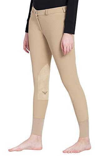Tuffrider Ribb Knee Patch Breech - TuffRider Ladies Ribb Lowrise Knee Patch Regular Breeches Light Tan 28 EU