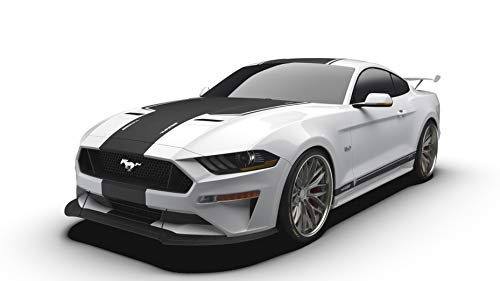 Raceskinz RS50 JARGON Edition Premium Vinyl Graphics Kit, Matte Black fits 2018 Ford Mustang GT. Quality Custom Vinyl Stripe Decal Graphic Sticker Body ()