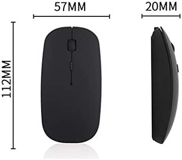 4 Buttons Ideal for Notebook Computer PC Laptop 3 DPI Levels 2.4GHz Slim Silent Mate Rechargeable Bluetooth Wireless Mice Gaming Mouse with USB Nano Receiver Lyperkin Wireless Mouse Mac,ect