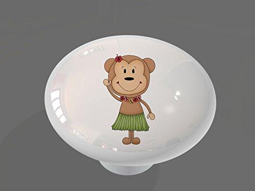 Hula Monkey High Gloss Ceramic Drawer Knob
