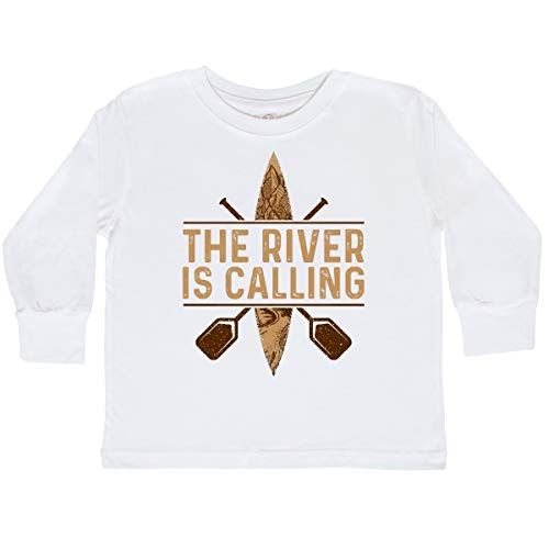 (inktastic - Kayaking River is Calling Toddler Long Sleeve T-Shirt 2T White 322cd)