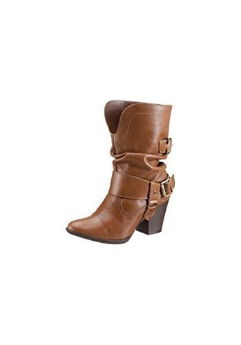 Ankle Boot Women from leather from Andrea Cognac