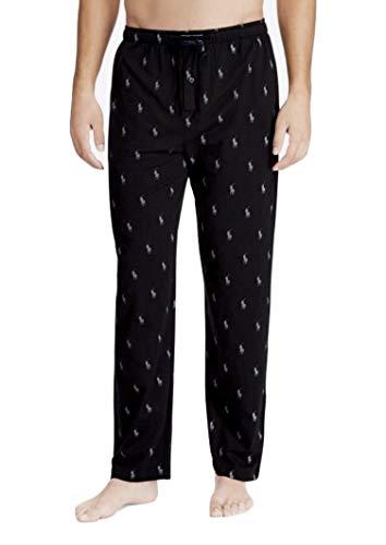 - Polo Ralph Lauren Classic Knit Lounge Pants, L, Black