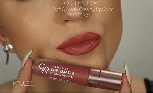 Amazoncom Golden Rose Soft And Creamy Matte Liquid Lipstick 107