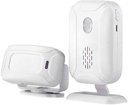 Detector movimiento, Monitor alarma, Sensor infrarrojo alerta PIR antirrobo, Sistema alarma inalámbrico, Inalámbrico inteligente, Sensor alarma, Seguridad inalámbrica, Sistema alarma-113Db, Blanco