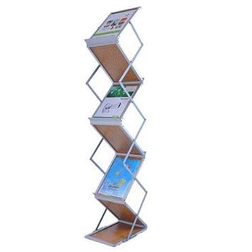 magazine rack office. folding literature stand floor magazine rack 5 pocket office l