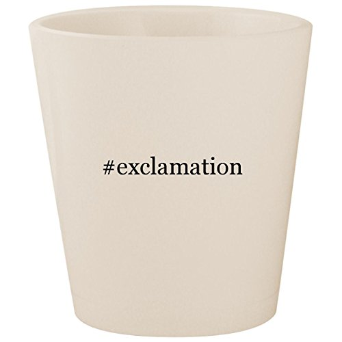 #exclamation - White Hashtag Ceramic 1.5oz Shot Glass ()