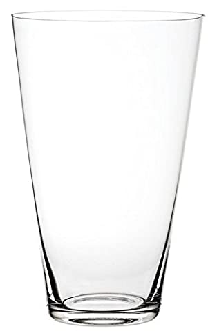 Flower Glass Vase Decorative Centerpiece For Home or Wedding by Royal Imports - Tall Round Tapered Shape (fits 2-dozen roses), 12