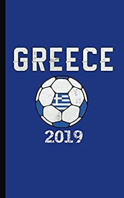 "Greece Flag Soccer Ball Journal - Notebook: Patriotic Greek DIY Writing Note Book - 100 Lined Pages + 8 Blank Sheets, Small Travel Size 5x8"" (Soccer Gear Gifts Vol 11)"