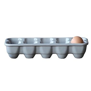 Creative Stoneware Egg Holder, Grey