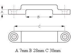 H2o 30mm Webbing Bridge Nylon Black Footmans Loop (Pack 4)