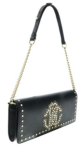 Studded Black Cavalli Womens Clutch Roberto Leather for Multicolor gvOnqnxwR