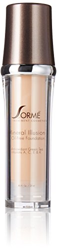 Sorme Cosmetics Mineral Illusion Foundation, Porcelain, 0.8 Ounce (Sorme Vitamins)