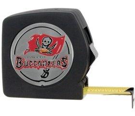 Tampa Bay Bunccaneers 25-Inch Black Tape Measure