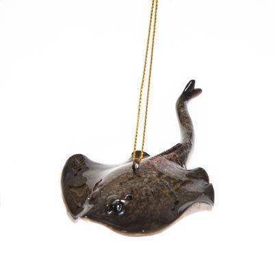 Scout & Company Gray Stingray Ornament for Christmas Tree | Marine Life Coastal ()