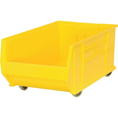 Quantum QUS985MOB Plastic Storage Stacking Hulk Container, 30-Inch by 18-Inch by 15-Inch, Yellow, Case of 1 by Quantum Storage Systems B0051F9244